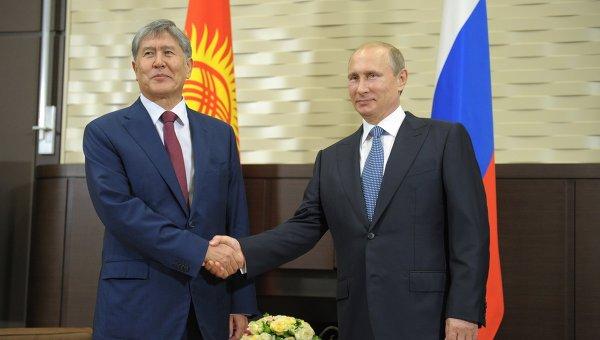 Владимир Путин прибыл в Киргизию.