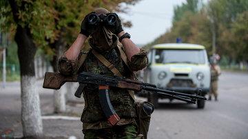 Украинский солдат из добровольческого батальона, архивное фото