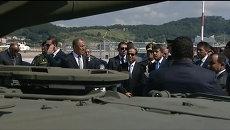 Военную технику РФ показали президенту Египта на летном поле в  Сочи