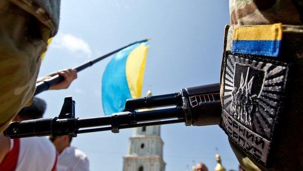 Одна из официальных нашивок батальона Азов. Архивное фото