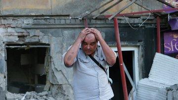 Житель Донецка после артобстрела города украинской армией