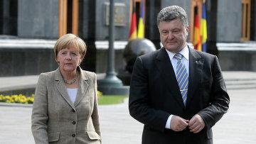Ангела Меркель и Петр Порошенко, архивное фото