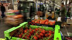 Овощи на рынке в Берлине. Архивное фото