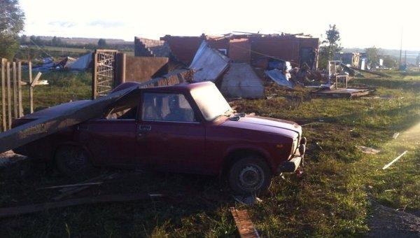 Последствия урагана в Башкирии