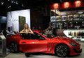 Автомобиль Maserati Grand Turismo на Московском автосалоне