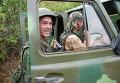 Ополченцы Донецкой народной республики (ДНР) в Донецкой области