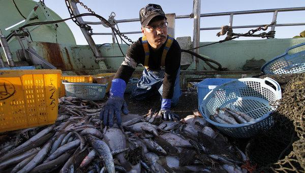 Японский рыбак. Архивное фото