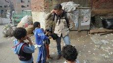 Фотокорреспондент Андрей Стенин в Каире, Египет. Архивное фото