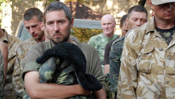 Пленные украинские военные в Донецке. Архивное фото