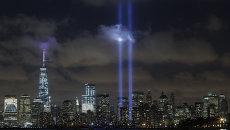 Световая инсталляция Посвящение в свете на участке Граунд-Зиро в Нью-Йорке