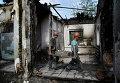 Рабочие ведут работы по восстановлению Донецка