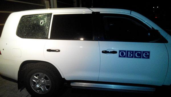 Автомобиль наблюдателей ОБСЕ обстрелян под Донецком