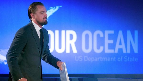 Леонардо Ди Каприо выступает на конференции Our Ocean Госдепартамента США в Вашингтоне, 17 июня 2014 год
