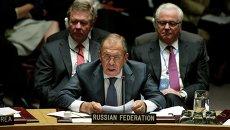 Глава МИД РФ Сергей Лавров на заседании Генеральной ассамблеи ООН