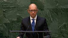 Яценюк обратился к Путину с трибуны ООН