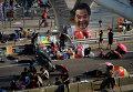 Протестующие на улице Гонконга