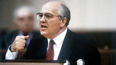 Михаил Сергеевич Горбачев выступает на I съезде народных депутатов СССР