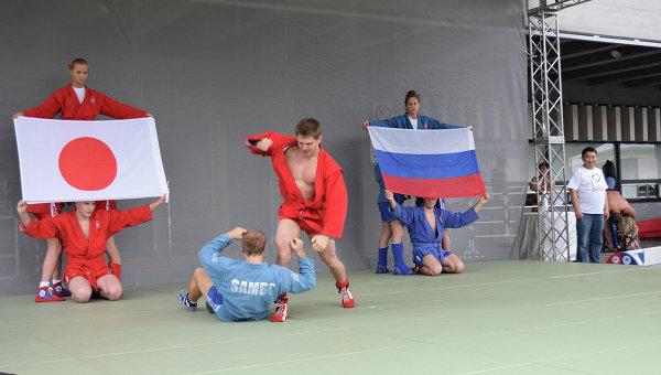 Показательные выступления российских самбистов