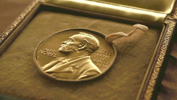 Медаль, вручаемая лауреату Нобелевской премии. Архивное фото