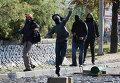Столкновения протестующих с полицией в Турции. Анкара, 9 октября 2014