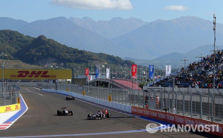 Свободные заезды на российском этапе Формулы-1