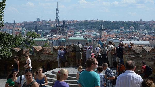 Вид на Прагу