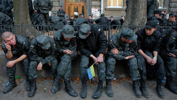 Бойцы Нацгвардии Украины, архивное фото