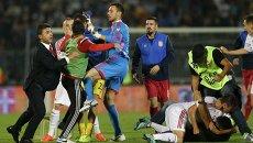Беспорядки во время матча сборных Сербии и Албании