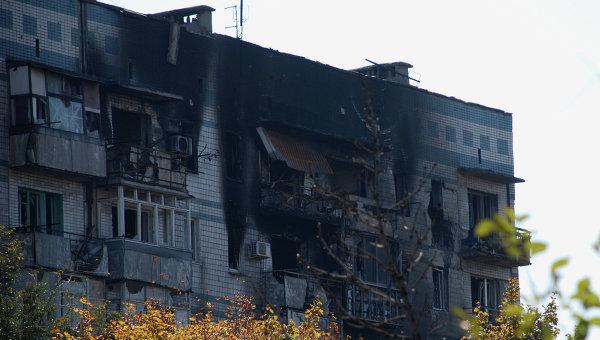 Ситуация в районе аэропорта Донецка. Архив