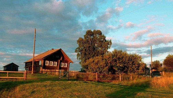 Карельская деревня Большая Сельга, архивное фото