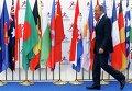 """Министр иностранных дел России Сергей Лавров на саммите """"Азия-Европа"""" в Милане 16 октября 2014"""