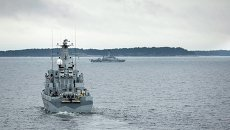 Шведский военный корабль, архивное фото