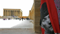 Вид на мавзолей Ататюрка в Турции. Архивное фото