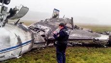 На месте крушения легкомоторного самолета Falcon в аэропорту Внуково. Архивное фото