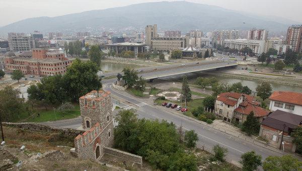 Город Скопье в Македонии. Архивное фото