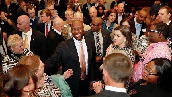 Тим Скотт - победитель выборов в сенат США от штата Южная Каролина