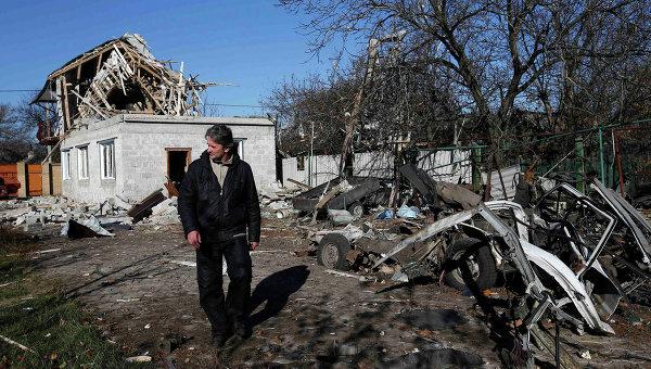 Донецк после обстрела. 6 ноября 2014