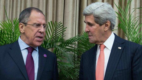 Встреча Сергея Лаврова и Джона Керри на полях саммита АТЭС в Пекине, 8 ноября 2014