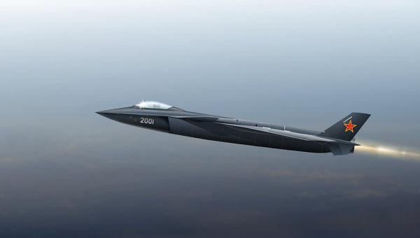 Иллюстрация разрабатываемого в Китае истребителя Chengdu J-20