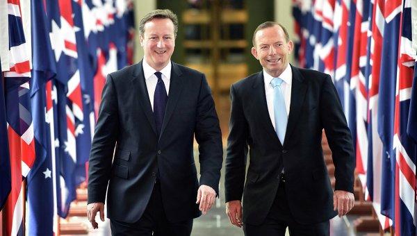 Премьер-министр Великобритании Дэвид Кэмерон с премьер-министром Австралии Тони Эбботт в Канберре