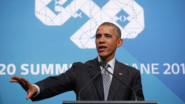 Президент США Барак Обама на саммите G20, 16 ноября 2014