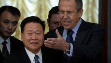 Встреча главы МИД РФ С.Лаврова и члена президиума политбюро ЦК Трудовой партии КНДР Цой Рен Хэ