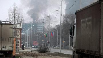 Спецоперация по ликвидации боевиков в Доме печати в Грозном