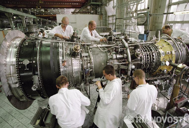 Серийное производство газотурбинных установок (ГТУ) для теплоэлектростанций нового поколения. Архивное фото