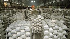 Продукция Саянского алюминиевого завода, архивное фото