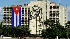 Флаг Куба в Гаване. Архивное фото