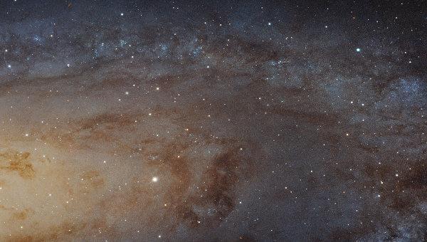 Изображение трети Туманности Андромеды – спиральной галактики Messier 31