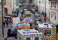 Машины полиции на улицах Парижа после нападения на редакцию журнала Charlie Hebdo