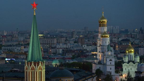 Вид на Московский Кремль. Архивное фото.