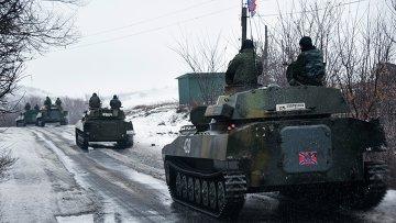 Ополченцы Донецкой народной республики движутся в сторону Славянска. Архивное фото